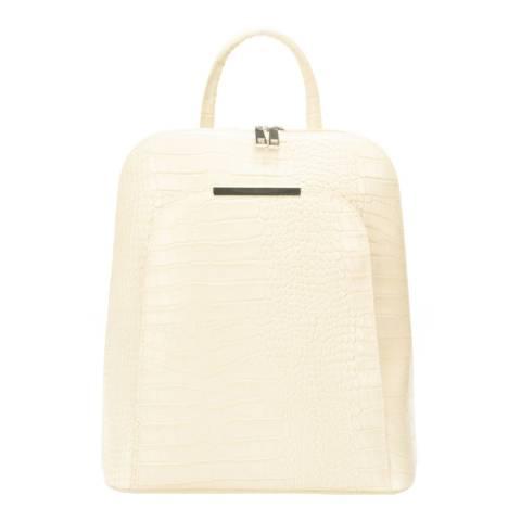 Markese Cream Leather Backpack