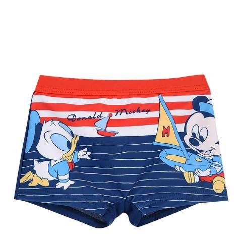 Disney Navy Mickey Mouse/Donald Duck Swim Shorts