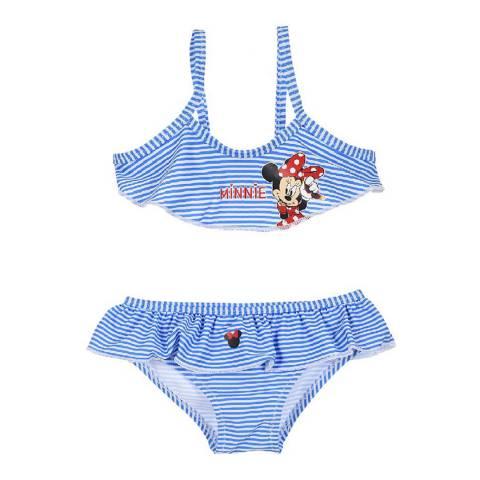 Disney Blue Stripy Minnie Mouse Bikini