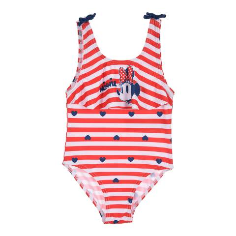 Disney Red Stripy Minnie Mouse Swimsuit