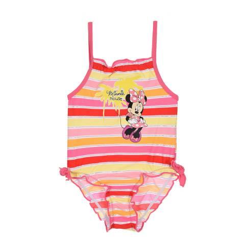 Disney Pink Stripy Minnie Mouse Swimsuit