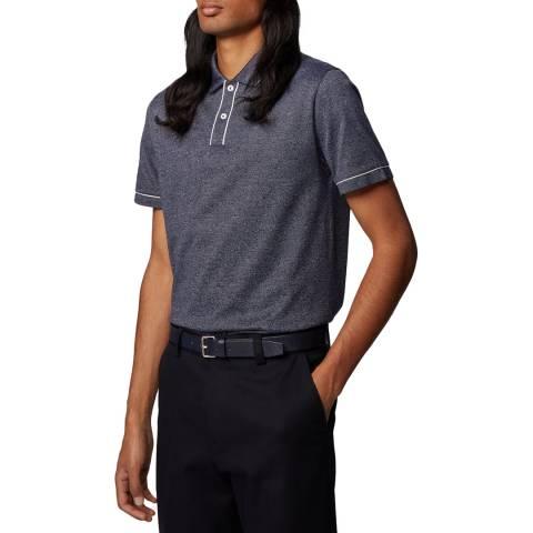 BOSS Navy T-Preston Regular Fit Cotton Polo