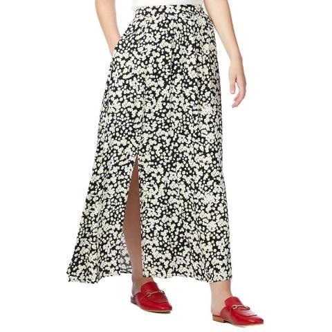 BOSS Black Floral Print Bellami Maxi Skirt