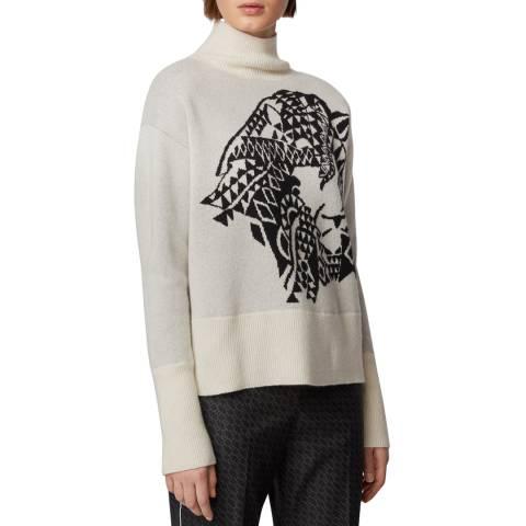 BOSS Beige Fleana Roll Neck Cashmere Sweater