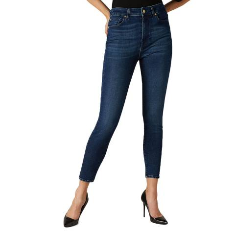 7 For All Mankind Indigo Blue Aubrey Slim Evolution Rhythm Stetch Jeans