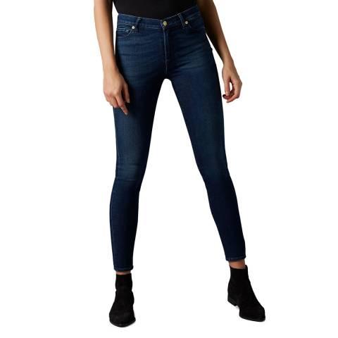 7 For All Mankind Indigo Blue Skinny Slievorhy Stretch Jeans