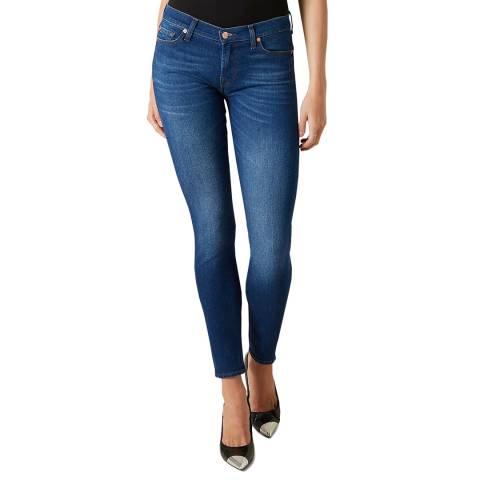 7 For All Mankind Indigo Blue Skinny Illusion Mar Vista Stretch Jeans