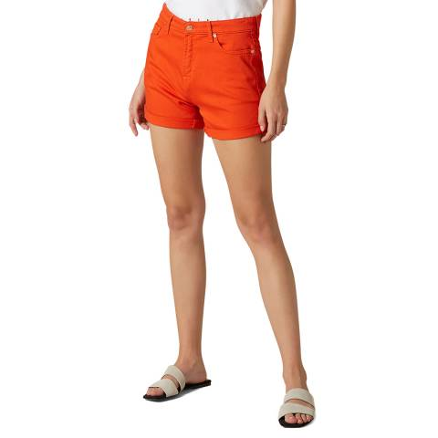 7 For All Mankind Red Comfort Stretch Boy Shorts