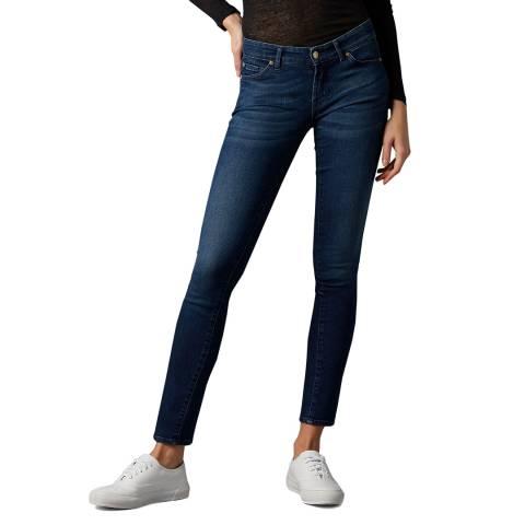 7 For All Mankind Dark Indigo Cristen Slim Evolution Rhythm Stretch Jeans
