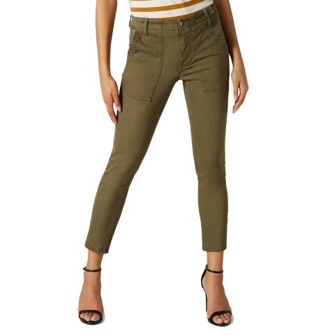 7 For All Mankind Green Twill Army Stretch Cargo Pant