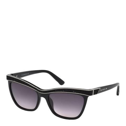 SWAROVSKI Women's Black Sunglasses 55mm