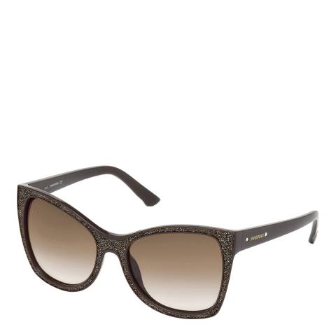 SWAROVSKI Women's Brown Sunglasses 56mm