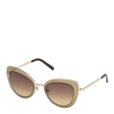 SWAROVSKI Women's Gold Sunglasses 51mm