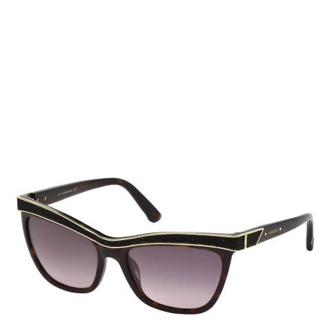 SWAROVSKI Women's Tortoiseshell Sunglasses 55mm