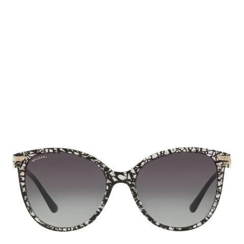 Bvlgari Women's Clear/Black Sunglasses 55mm