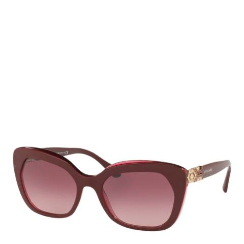 Bvlgari Women's Red Bvlgari Sunglasses 55mm