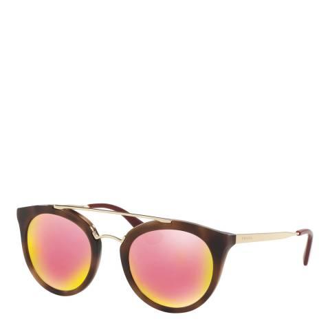 Prada Women's Tortoiseshell Sunglasses 52mm