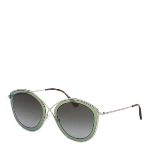 Tom Ford Women's Grey/Green Tom Ford Sunglasses 55mm