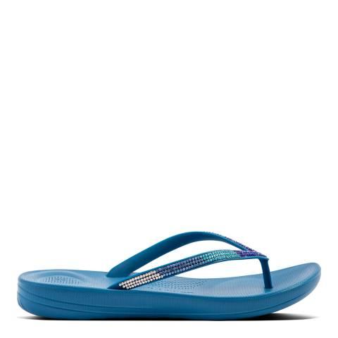 FitFlop Sea Blue Ombre Sparkle Flipflops