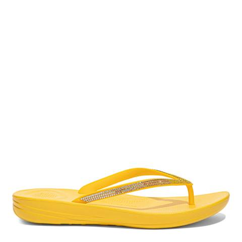 FitFlop Sunshine Yellow Ombre Sparkle Flipflops