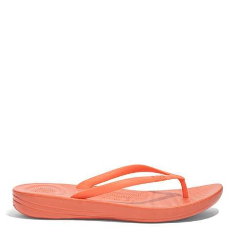 FitFlop Coral Pink Ergonomic Iqushion Flipflops