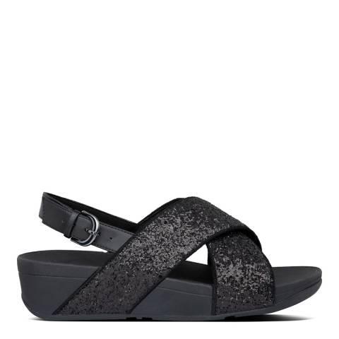 FitFlop Black Glitter Lulu Back Strap Sandals
