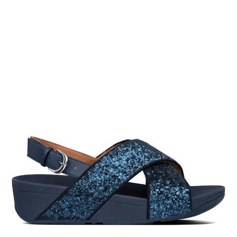 FitFlop Midnight Navy Glitter Lulu Back Strap Sandals
