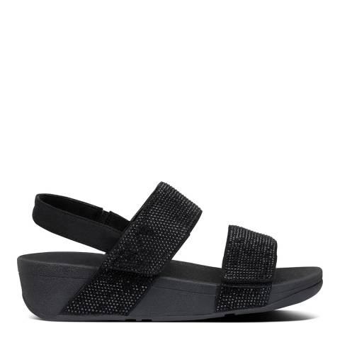 FitFlop All Black Mina Crystal Back Strap Sandals
