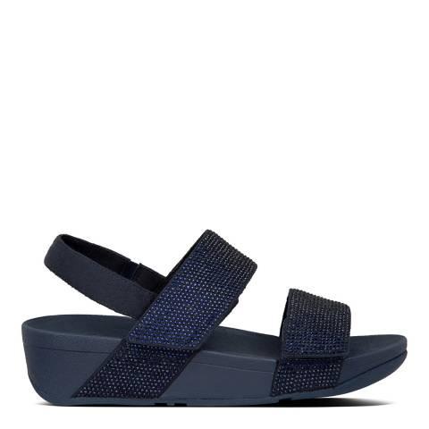 FitFlop Midnight Navy Mina Crystal Back Strap Sandals