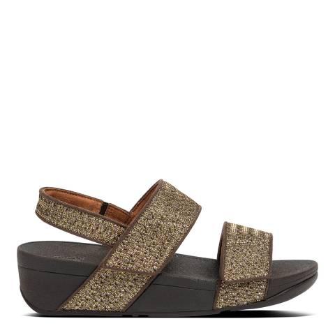 FitFlop Bronze Mina Glitter Weve Back Strap Sandals