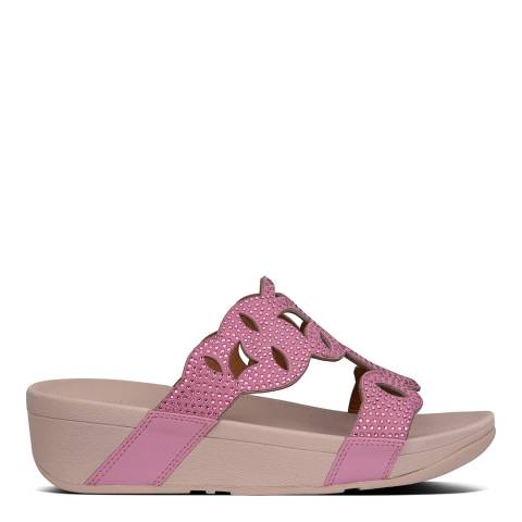FitFlop Heather Pink Elora Crystal Sandals