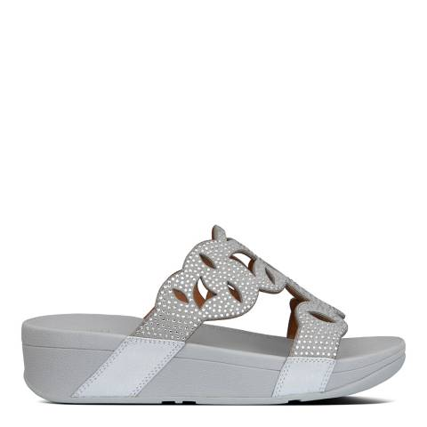 FitFlop Silver Elora Crystal Sandals