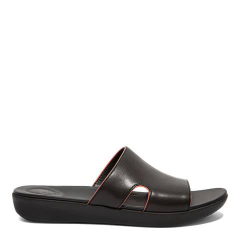 FitFlop Black H-Bar Pop Binding Slide Sandals