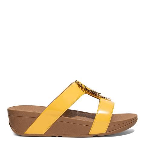 FitFlop Sunshine Yellow Lottie Jungle Leaf Sandals