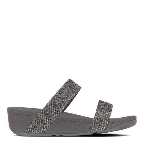 FitFlop Pewter Lottie Glitzy Double Strap Sandals