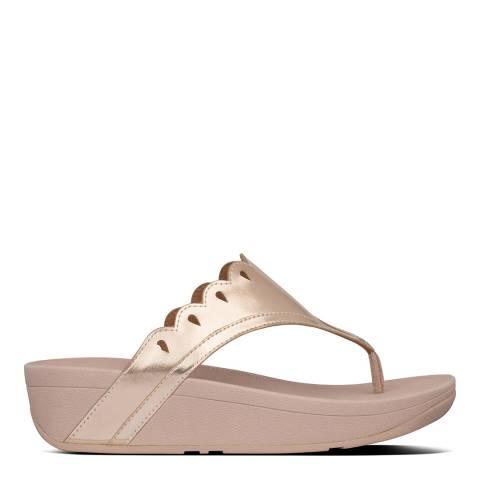 FitFlop Rose Gold Esther Floret Toe-Post Sandals