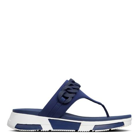 FitFlop Midnight Navy Heda Chain Toe-Post Sandals