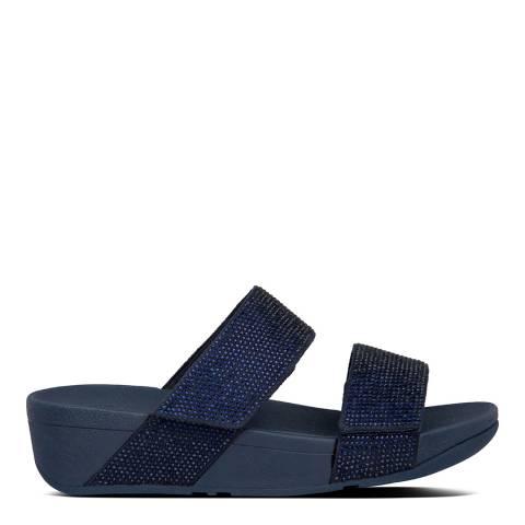 FitFlop Midnight Navy Mina Crystal Sandals