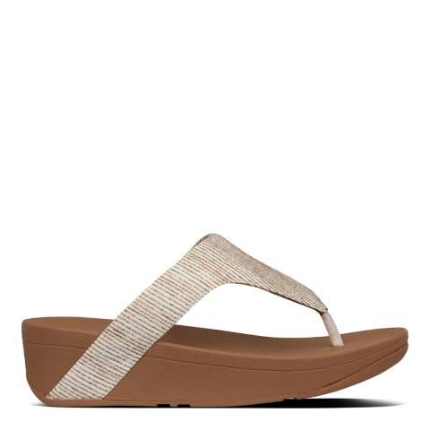 FitFlop Stone Lottie Glitter Stripe Toe-Post Sandals