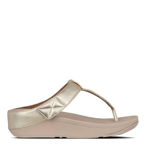 FitFlop Gold Mina Toe-Post Sandals