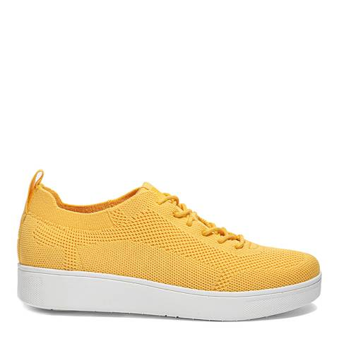 FitFlop Sunshine Yellow Rally Tonal Knit Sneakers
