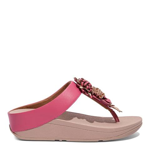FitFlop Deep Pink Fino Flopal Cluster Toe-Post Sandals