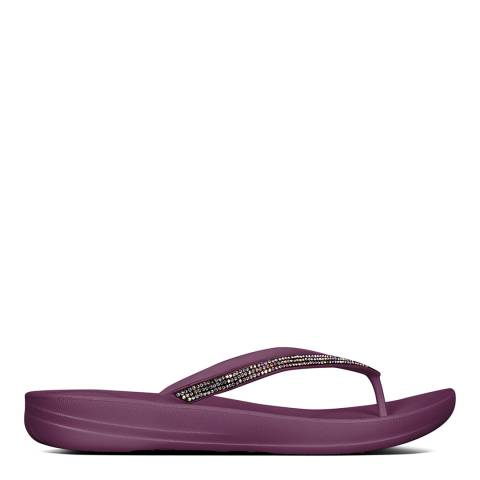 FitFlop Beetroot Sparkle Iqushion Flip Flops