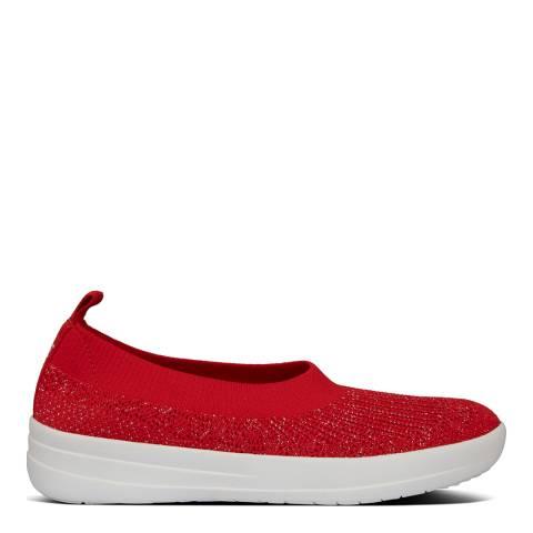 FitFlop Red Uberknit Slip on Ballerina