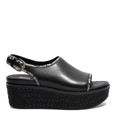 FitFlop Black Mix Eloise Slingback Wedge Sandals