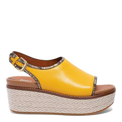 FitFlop Sunshine Yellow Eloise Slingback Wedge Sandals