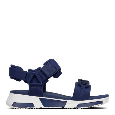 FitFlop Midnight Navy Heda Chain Backstrap Sandals