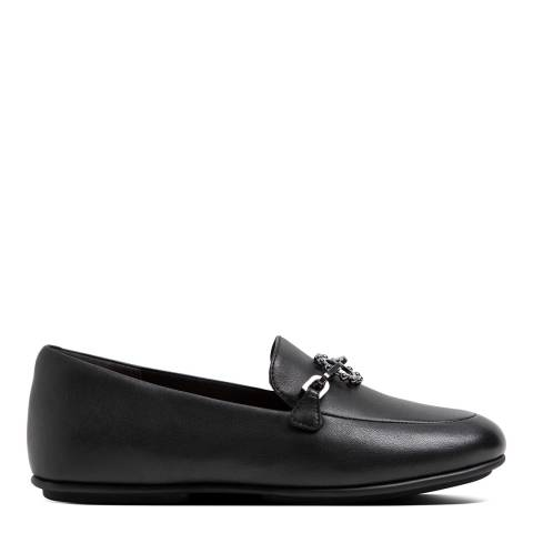 FitFlop Black Leather Sun Embellished Lena Loafers