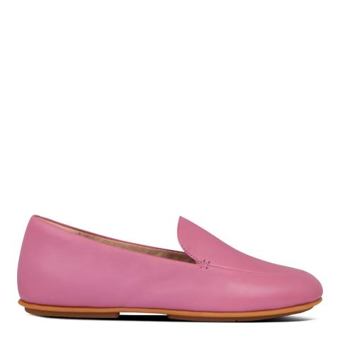 FitFlop Pink Leather Lena Loafers