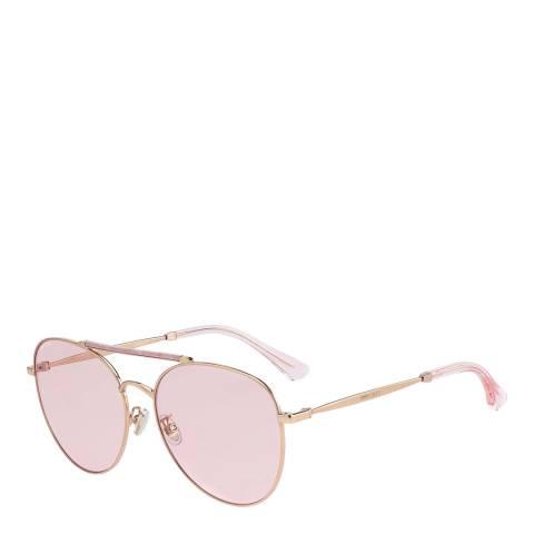 Jimmy Choo Pink Glitter Abbie Sunglasses
